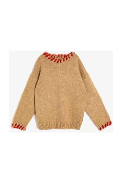 Coffee Kid Collar Detailed Sweater 0KKG97437HT