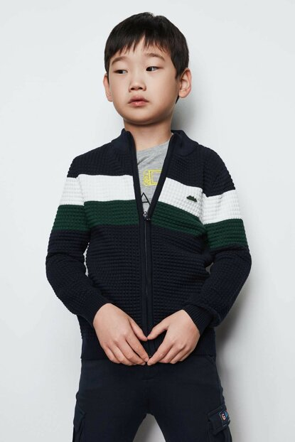 Boys' Navy Blue Cardigan 19FW0NB3709