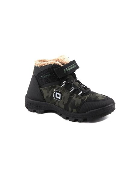 Green Boy Boots D001L019F.20K-GREEN CAMOUFLAGE
