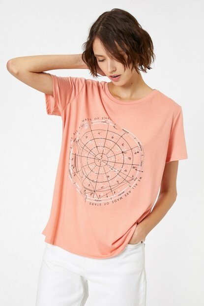 Women's Salmon T-Shirt 0KAK13195EK