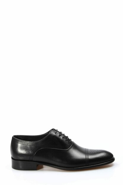 Genuine Leather Black Antique Men Classic Shoes 1850228