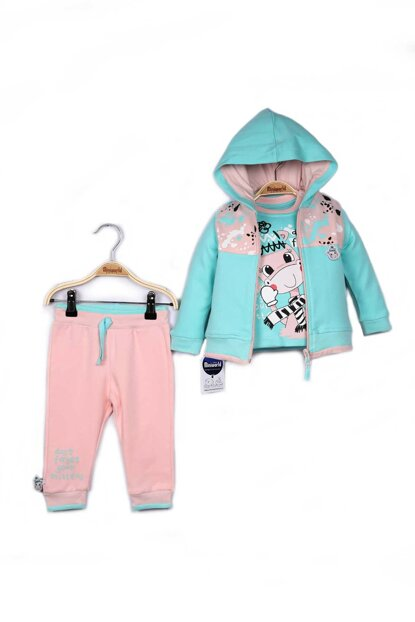 Miniworld Baby Girl Cardigan Sweatshirt Pants 3-Piece Suit 9-24 Months 14799 MINI14799