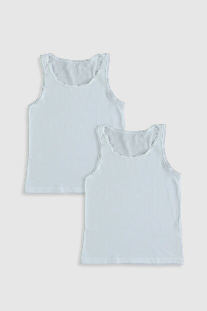 Girls' Optical White E5X Singlet with 2sets 0S1620Z4
