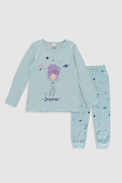 Girl's Light Blue FWB Pajamas Set 0S1384Z4