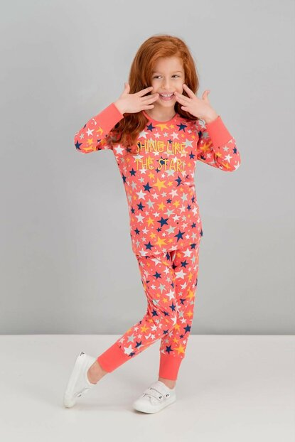 Shine Like The Stars Pomegranate Girl Pajamas Set RP1591-C-V2