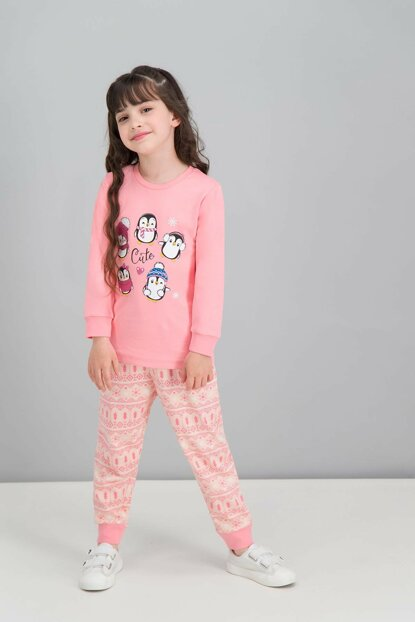 Candy Pink Girls' Pajamas Set RP1607-C