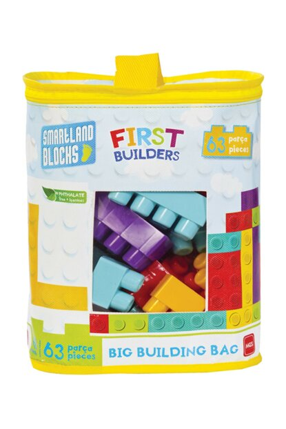 Smartland Big Blocks 63 Pieces with Lego Bag Urt-5826 URT-5826