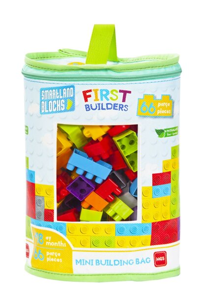 Smartland Big Blocks 66 Pieces with Lego Bag Urt-5794 URT-5794