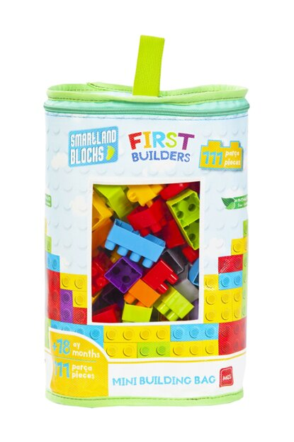 Smartland Big Blocks 111 Pieces with Lego Bag Urt-5795 URT-5795