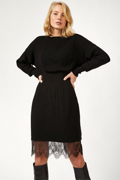 Women Black Skirt Lace Sweater Dress DP00001 DP00001