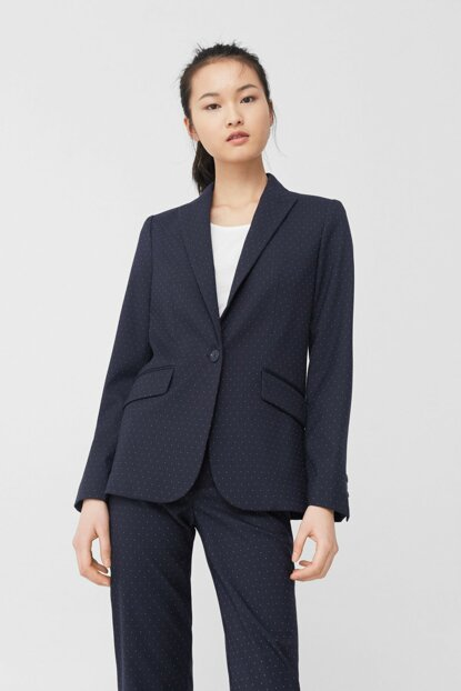 Women's Navy Blue Coat 81045016