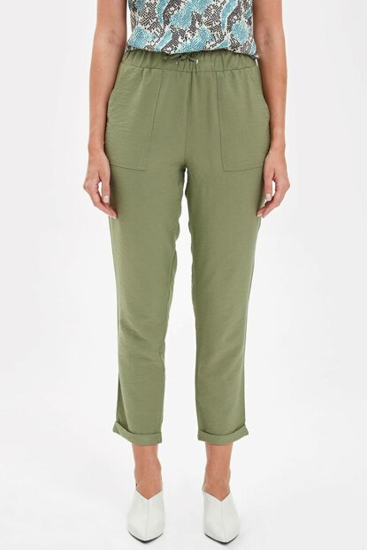 Women's Khaki Relax Fit Pants M0885AZ.19HS.KH63