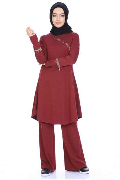 Embroidered Tunic Pants Suit 4036