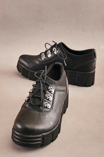 Black Women's Casual Shoes K06880214