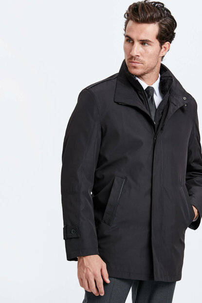 Men's Black Coat 8W5617Z8