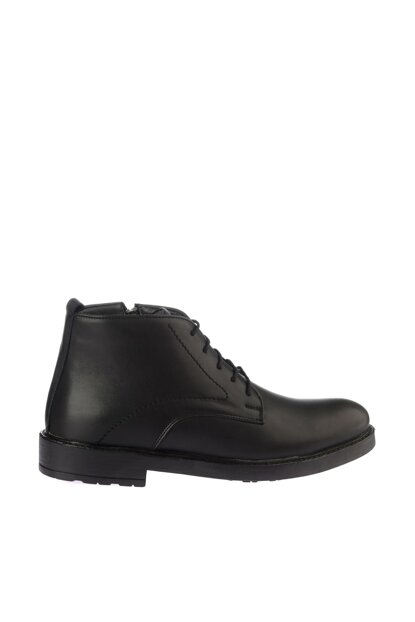 Genuine Leather Black Men Boots & Bootie 02BOY162890A100