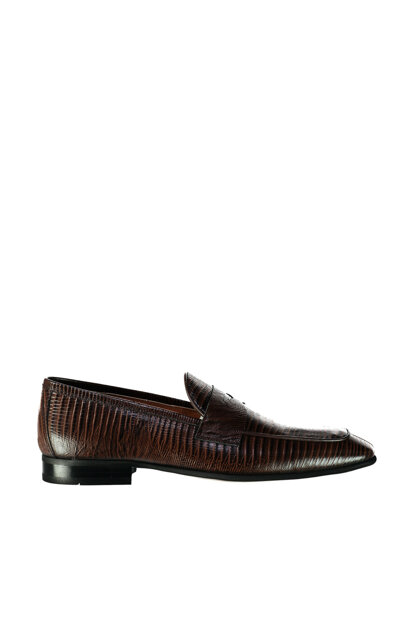 Genuine Leather Brown Men Loafer Shoes 02AYH129290A480