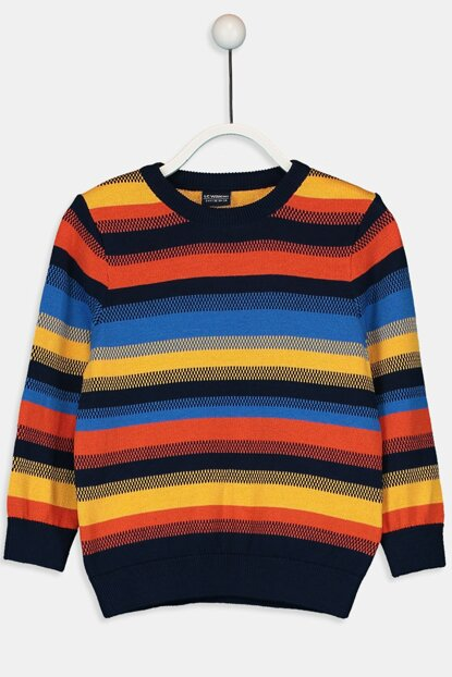 Boy Orange Striped Lgz Sweater 9W8664Z4