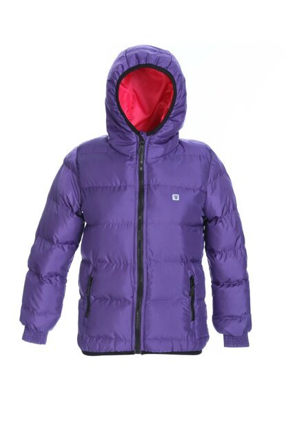 Sportive Girlmontdol Kids Purple Coat G10006-MOR