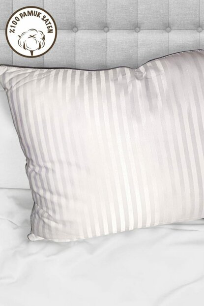 Way Gray Piping Jacquard 100% Cotton Satin Hotel Pillow 712823936280