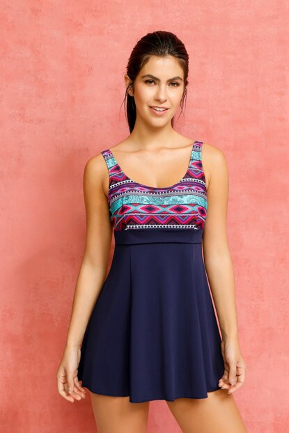 Women's Dress Navy Blue Swimwear 335-196