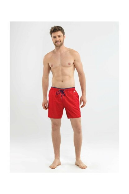Men's Shorts Swimwear - 8572 - Red
