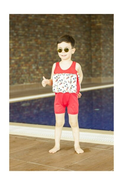 Red Mouse Help Swim Unsinkable Boys Kids Swimwears 3-4 Age 19 / Red Mouse