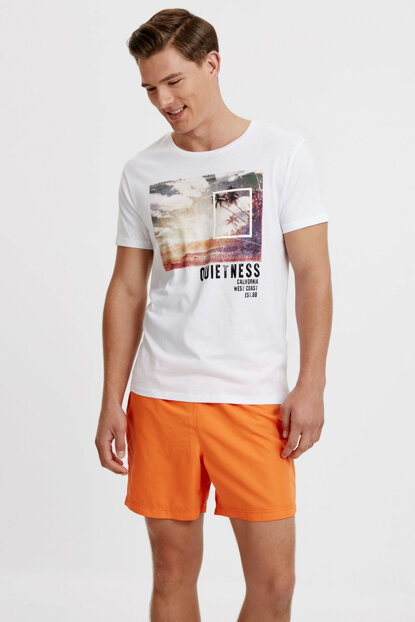 Men's Orange Sea Short