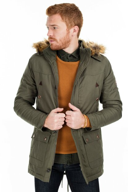 Hooded Slim Fit Coat MEN MONT 2162057SIBW0
