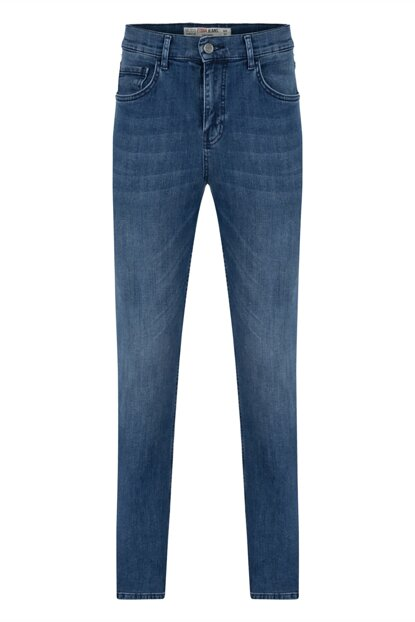 Men's Indigo Cotton Slim Straight Denim Pants 352704