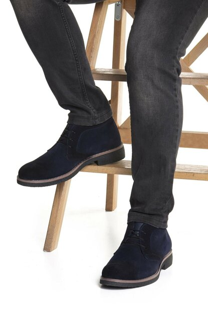 Navy Blue Men's Boots DPRMGUNL202