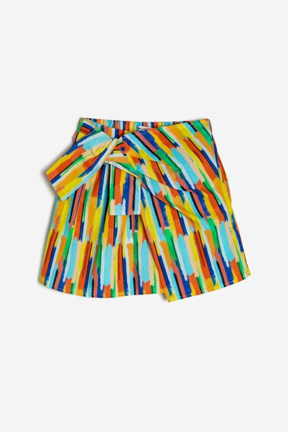 Yellow Girl Kid Color Blocked Skirt 9YKG77205AW