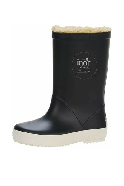 Dark Blue Girls Kids Rain Boots Dark Blue 19KGRW10207K