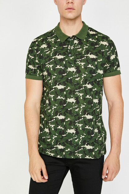 Men's Green T-Shirt 8YAM11704LK