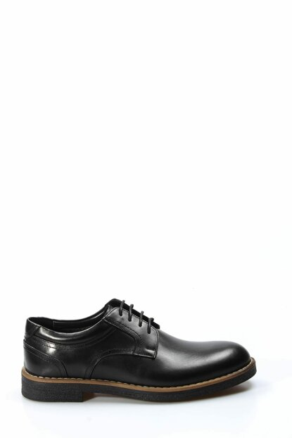 Genuine Leather Black Men Classic Shoes 1849766