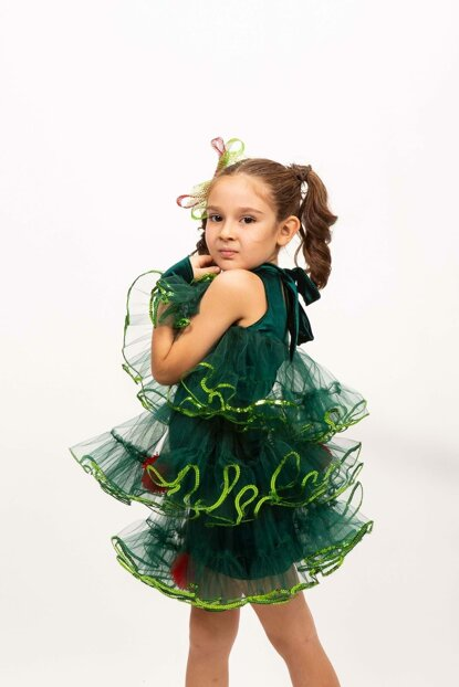 Pine Tree - New Year 03 / Kids 10 Age Girl Costume ST00046-3