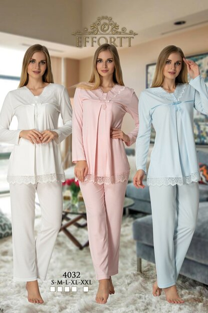 Effortt 4032 Lohusa Sleepwear Set TXB3C9AB9D21