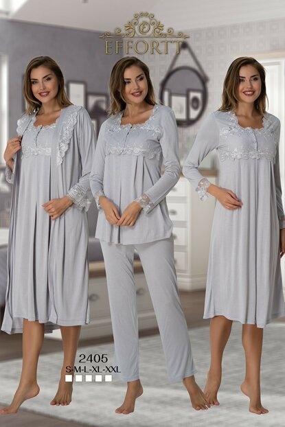 Effortt 2405 Gray Lohusa Pregnant Set of 4 TXB3C9AB9D1477