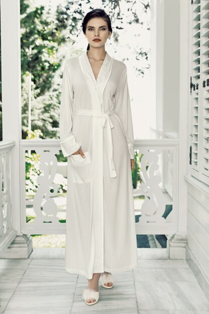 Women's Ecru Dressing Gown T1447