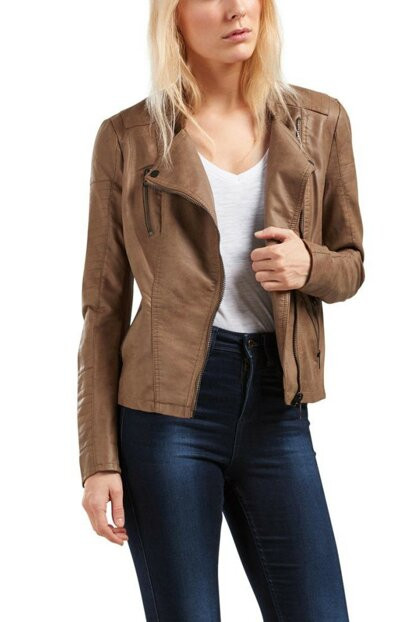 Women Leather Jacket 15102997 Leather Biker