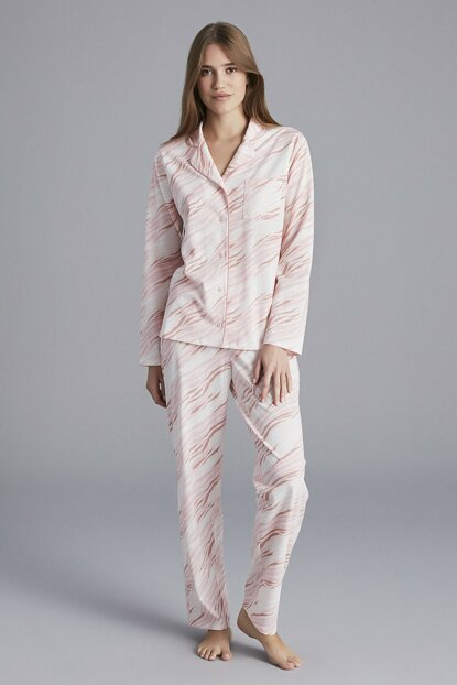 Women's Multi-Color Zebra Pajamas Set PNEEYLDZ19SK-MIX
