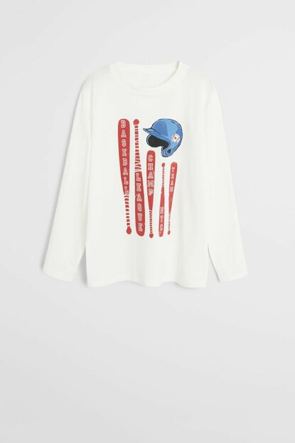 Off White Boy T-Shirt with Organic Cotton 57027897