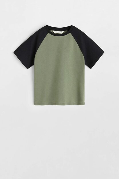 Khaki Color Boy's Double Color T-Shirt 53040905