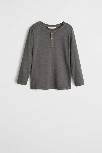 Dark Gray Boy T-Shirt With Organic Cotton 53000821