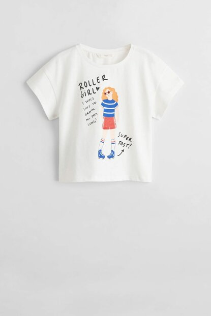 Girls' Printed Cotton T-Shirt 53040692