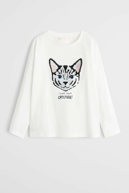 Off White Girl Kids Double Sided Halloween Sequin T-Shirt 57037686