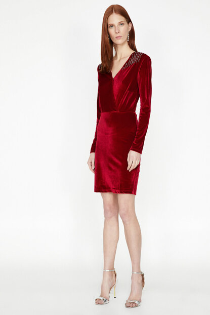 Women's Red Dress 9KAK84508FK
