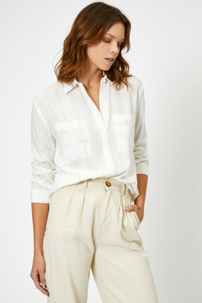 Women's Ecru Shirt 0KAK68183PW