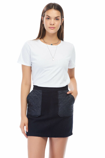 Women's Navy Blue Skirt 8KAK73695MW