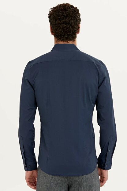 Men's Navy Blue Shirt 9W0696Z8